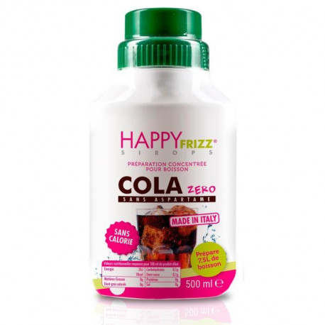 HAPPY FREEZ Sirop Cola Zero - 500ml
