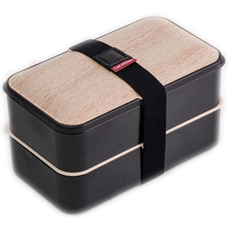 THEKITCHENETTE Lunch Box 2 étages 5040441 1,2L blanc et noir