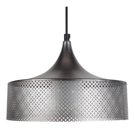 CONE SUÉDOIS GAINE Suspension acier 31x31x90 cm Anthracite
