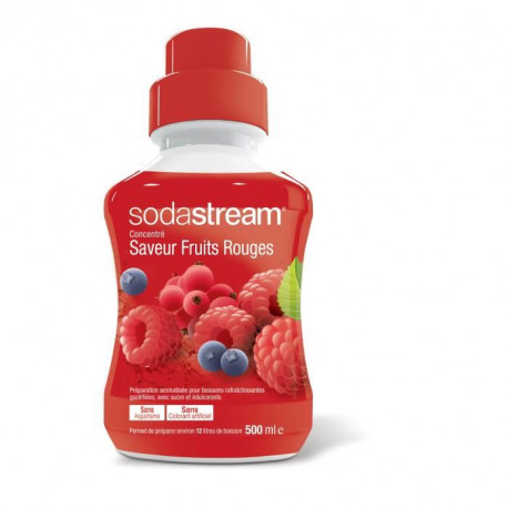 SODASTREAM Concentré 500ml Fruits Rouges