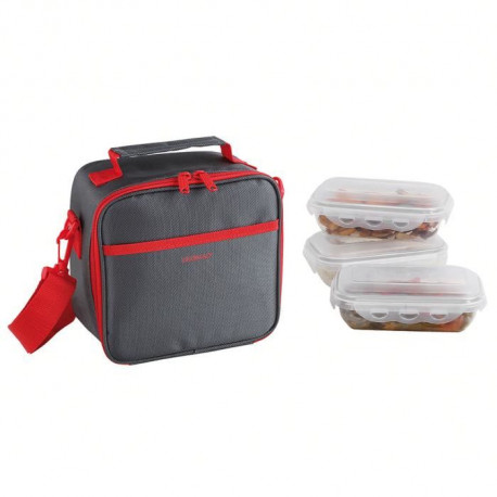 BE NOMAD SEP122R Set Sacoche Lunch box - Rouge