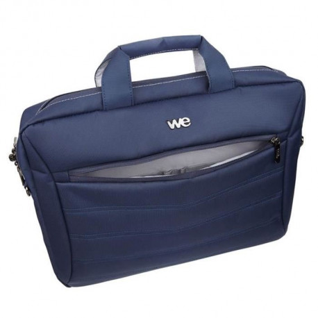 "WE Sacoche Ordinateur - 17,3"" - Nylon - Bleu"