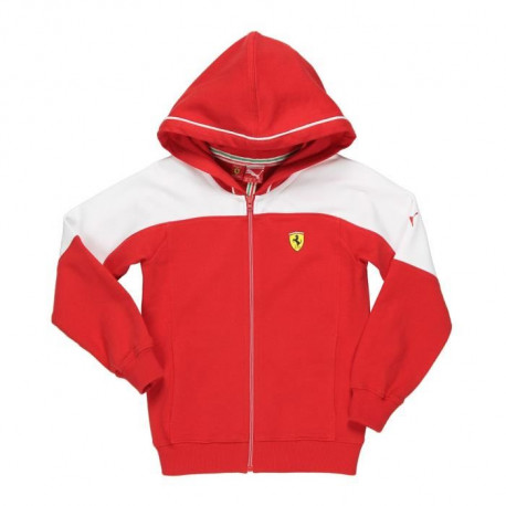 PUMA Veste Sweat a Capuche Zippé SF Junior - Rouge