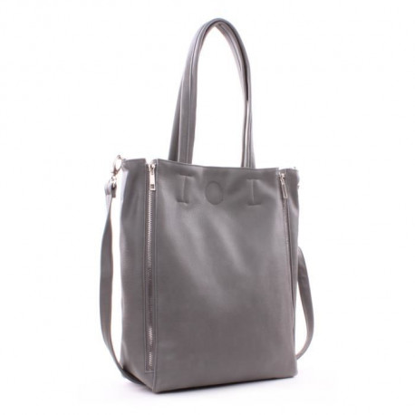 GENSHII Let's Sparkle Sac Shopper Simili - Gris