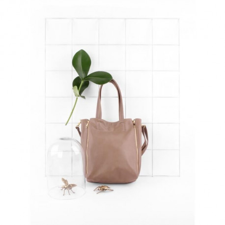 GENSHII Let's Sparkle Sac Shopper Simili - Sable