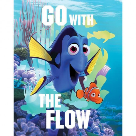 DORY Go with the flow Toile imprimée 40x50 cm bleu