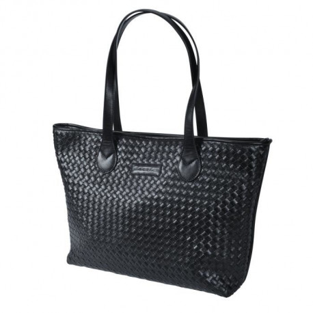 SAVEBAG Sac de shopping WHOPE tressé - Noir