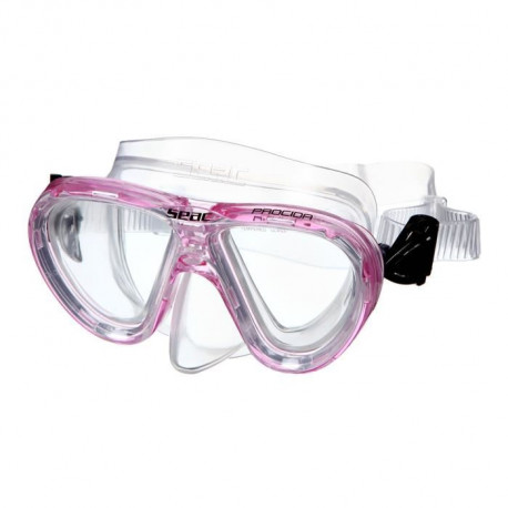 SEAC Masque de Plongée Procida Silter Clear - Junior/Enfant - Rose